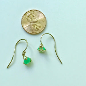 Fiore Gemstone Chrysoprase Earrings Drop 14k gold Hannah Daye & Co
