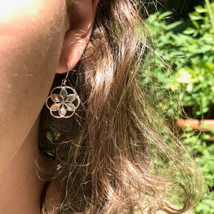 Sterling Rosette French Hook Earring Hannah Daye & Company