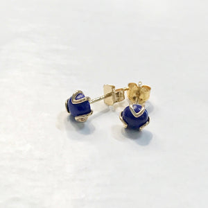 Fiore Gold earrings Lapis Hannah Daye & Co