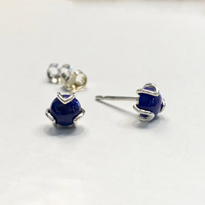 Hannah Daye & Co Lapis Fiore Post Earrings Silver Sterling