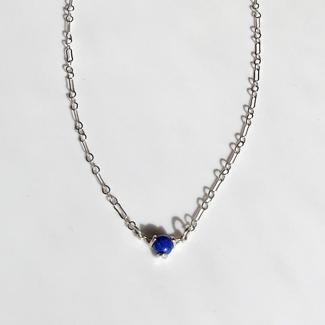 Fiore Lapis necklace silver Hannah Daye & Company