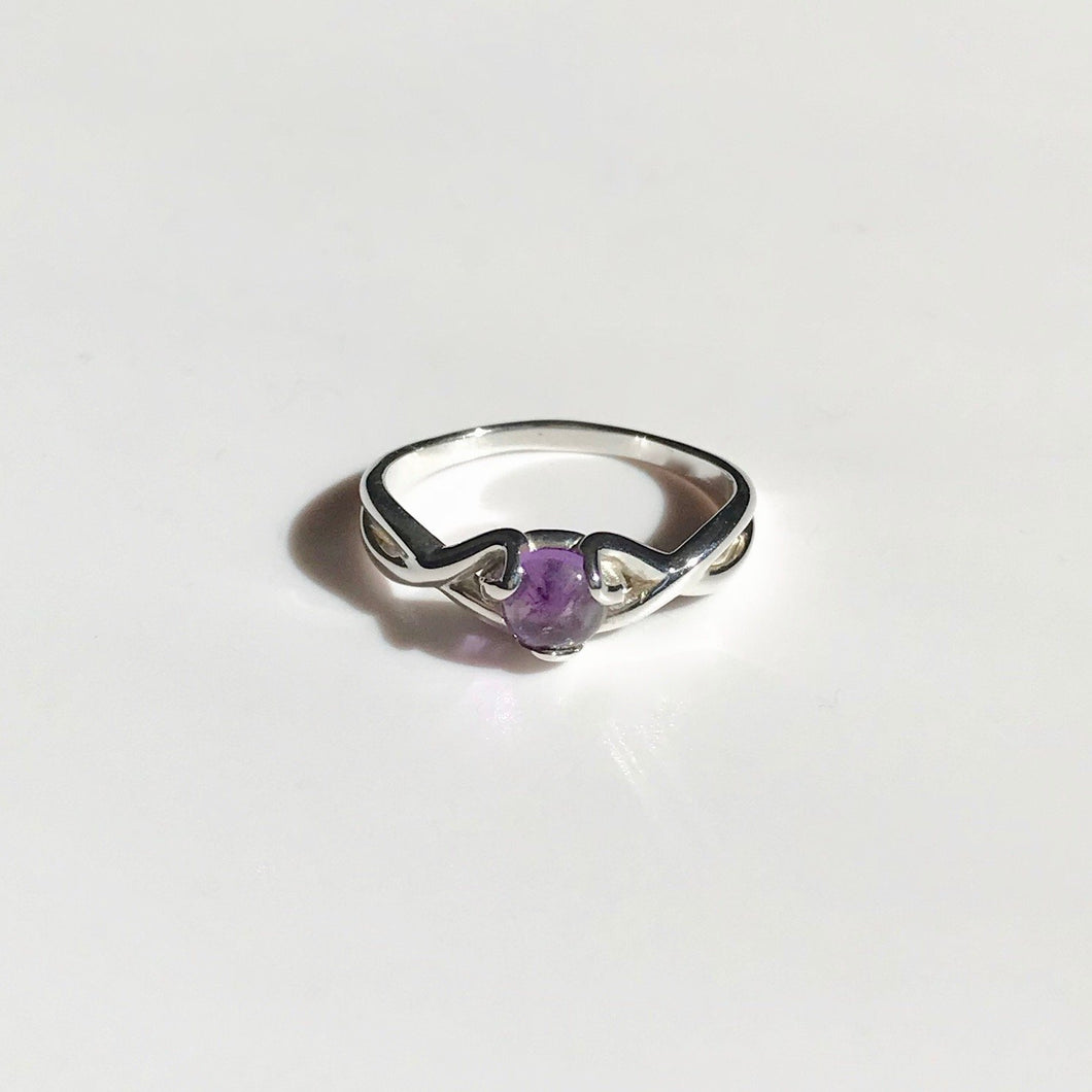 Fiore Gemstone Ring Sterling Silver Amethyst Hannah Daye & Co