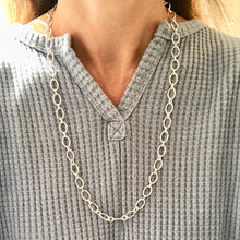 Load image into Gallery viewer, model wearing Cascade sterling link necklace Hannah Daye & Co