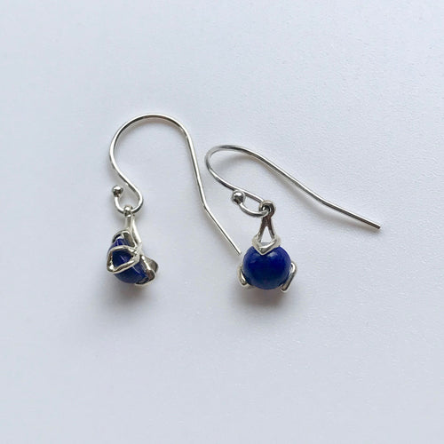 Lapis Fiore Drop Earrings silver Hannah Daye & Co