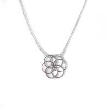 Load image into Gallery viewer, Rosette Plat sterling silver pendant Hannah Daye & Co