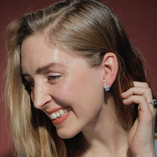 Load image into Gallery viewer, Lexington Earrings Hannah Daye & Co Blue and White Topaz Silver