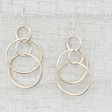Load image into Gallery viewer, Saturn Singles Sterling Silver Earrings Hannah Daye & Co