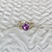Load image into Gallery viewer, Hannah Daye & Co Amethyst Brillante Ring Silver