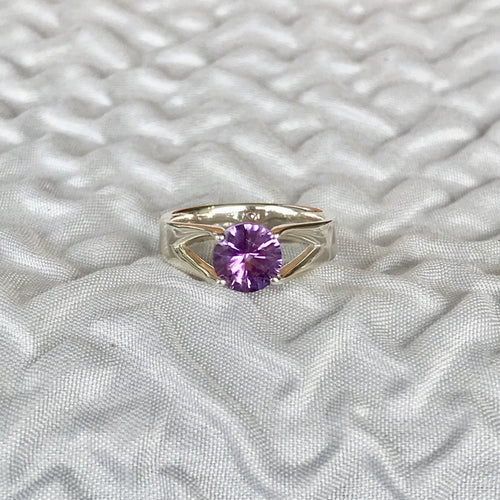 Hannah Daye & Co Amethyst Brillante Ring Silver