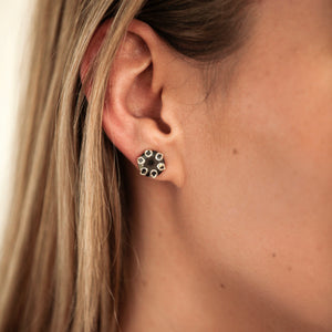 Poppy Earrings Hematite Hannah Daye & Co