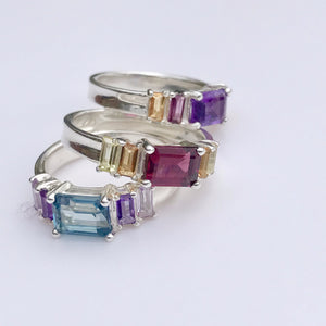 Stack of Lexi Band Rings  Hannah Daye & Co