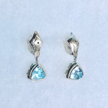 Load image into Gallery viewer, Hannah Daye & Company Concord Trillion Sky Blue Earrings