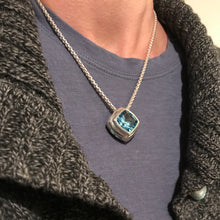 Load image into Gallery viewer, Hannah Daye & Company Sky Blue Topaz Concord Cushion Cut Pendant