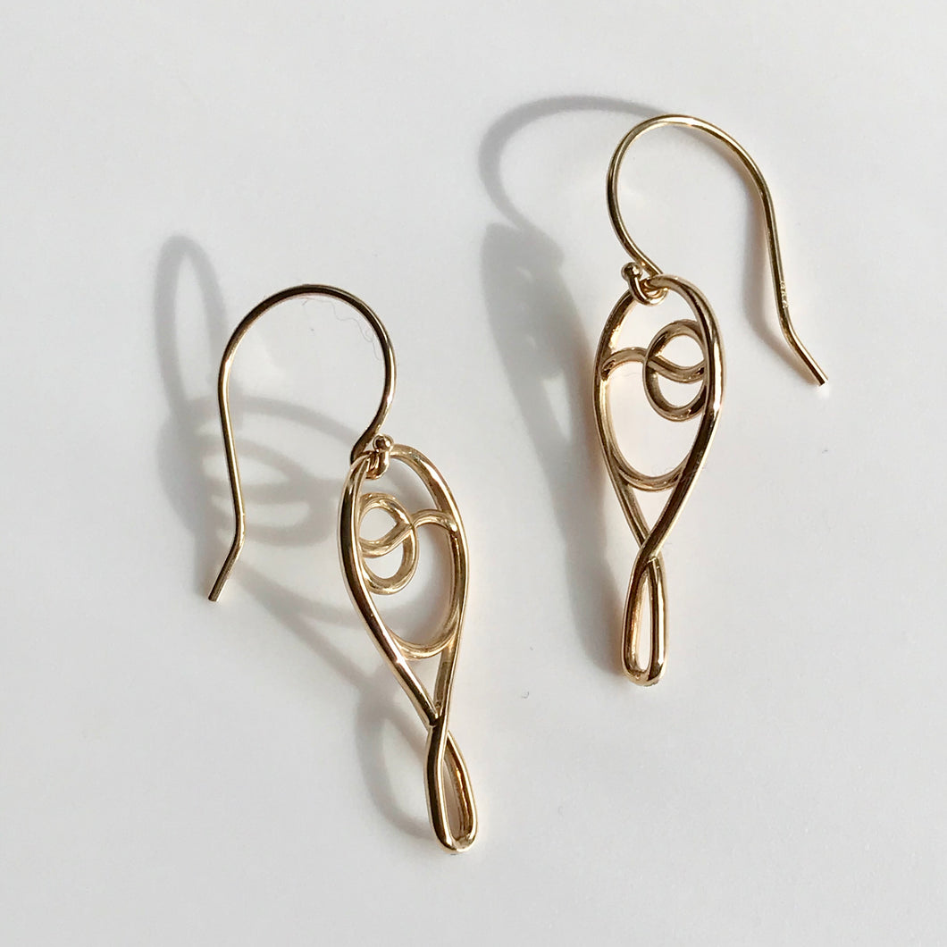 Tennis Deuce Ace 14k gold earrings Hannah Daye & Co