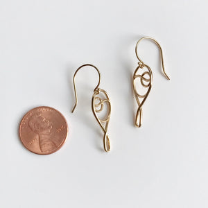 Deuce Ace Tennis 14k gold earrings with penny Hannah Daye & Co