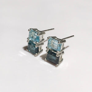 Lexington Earrings London and Sky Blue Topaz Hannah Daye & Co