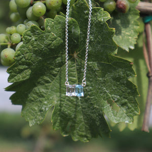 Lexington Necklace in Sky Blue Topaz and White Topaz by Hannah Daye & Co
