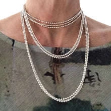 Load image into Gallery viewer, Sterling Wraps necklace tripled lengths Hannah Daye & Co