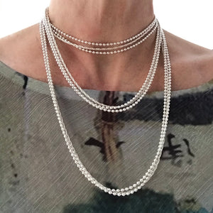 Sterling Wraps necklace tripled lengths Hannah Daye & Co