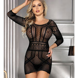 Backless Mini Chemise Dress Body Stocking
