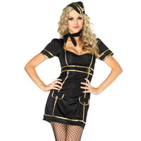 Black & Gold Stewardess Outfit