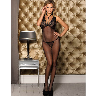 Choker Fishnet Body Stocking