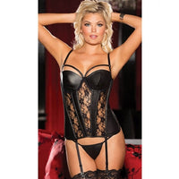 Elegant Sweetheart Leather Corset