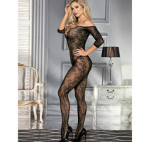 Fishnet Open Crotch Body Stocking