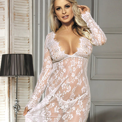 Floor length Lace Gown