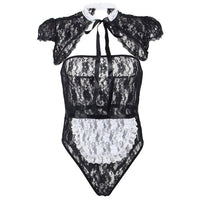 French Maid Lace Teddy
