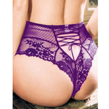 High Waist Lace Strappy Panties