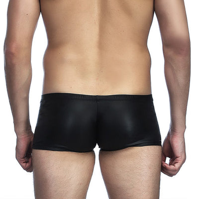 Leather Mens shorts Underwear