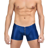 Leather Mens Zipup Underwear