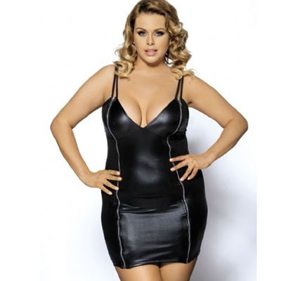 Zips Leather Dress