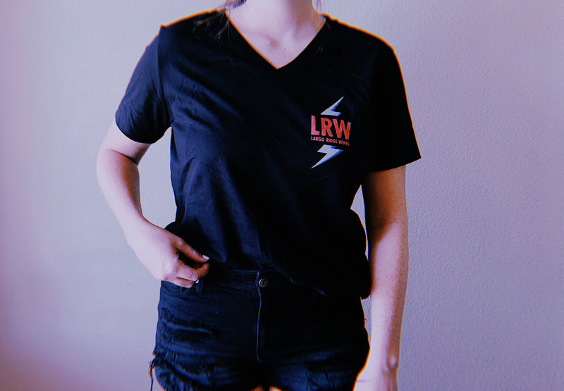 Black LRW Ladies V-Neck Tee