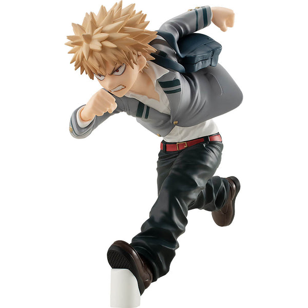 Figurine Pop Up Parade de Katsuki Bakugo sur fond blanc