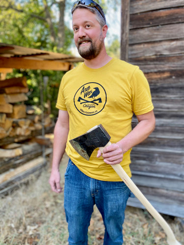 Axe Wax Logo T-shirt Men's - Mustard