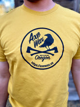 Load image into Gallery viewer, Axe Wax Logo T-shirt Men's - Mustard