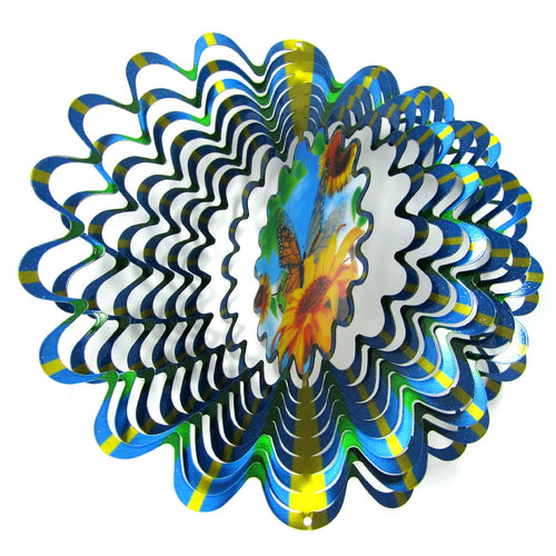 Butterfly Hologram Windspinner