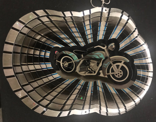 Stainless Steel Wind Spinner Motorcycle Design