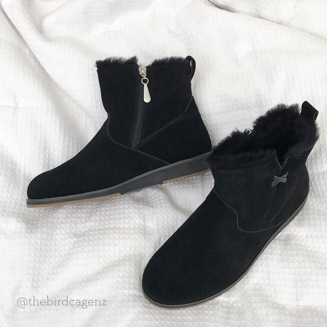 EMU Beach Mini Black Water Resistant Suede
