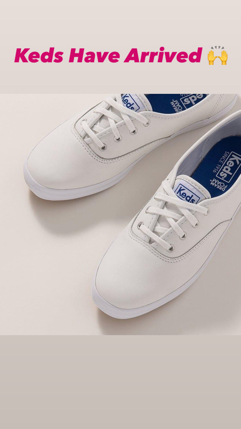 Keds Champion Leather White