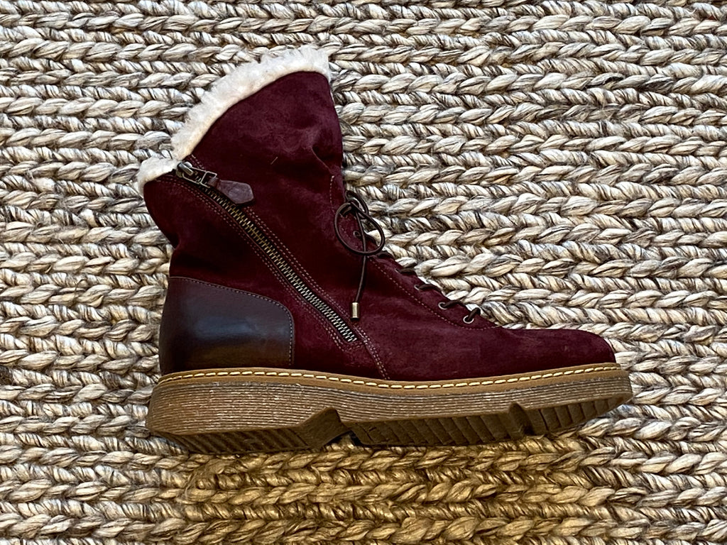 Mago 051 Nubuck Boot Bordo Last Pair Size 39