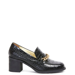 Miss Wilson Coco Loafer Black Croc Last Pair 36 (size down)