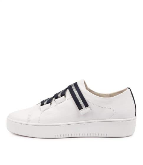 Mollini Lafay White Navy/Silver Leather
