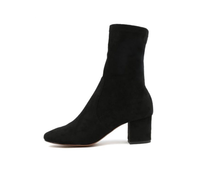Mollini Careful Black Stretch Microsuede Boot