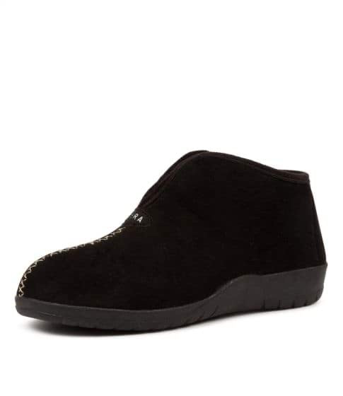 Ziera Cuddles Slippers Black