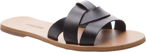 Anacapri Leather Slides Black