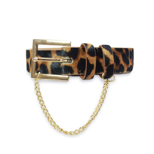 Kathryn Wilson Classic Belt Cheetah Calf Hair