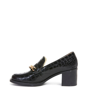 Miss Wilson Coco Loafer Black Croc